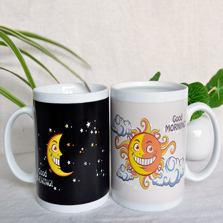 Moon star ceramic color cup