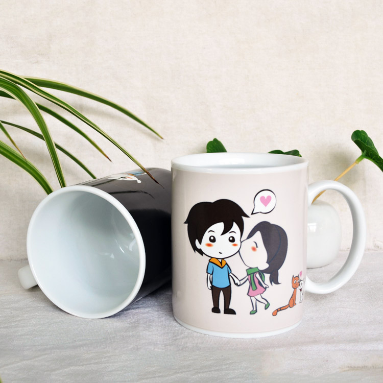 Couple creative color change cup