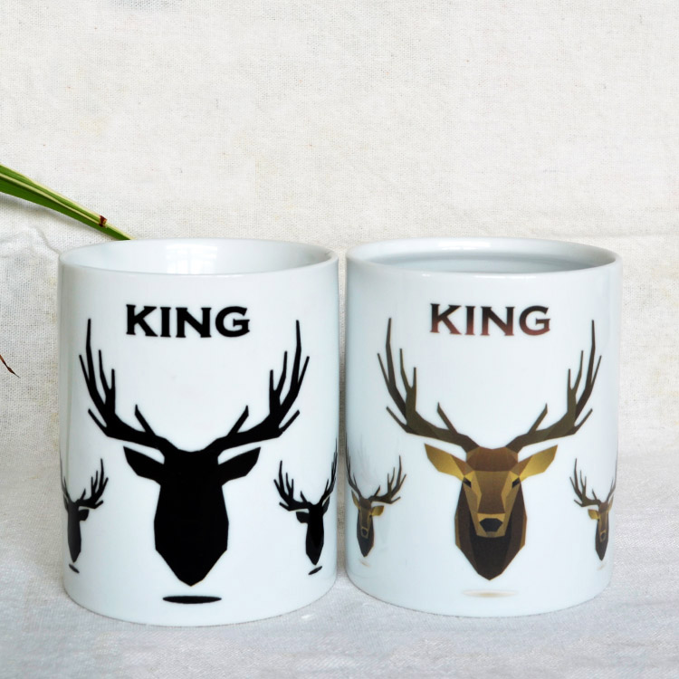 Deerhead ceramic color changing cup